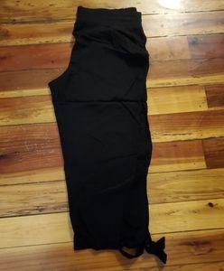 Ankle tie crepe pants